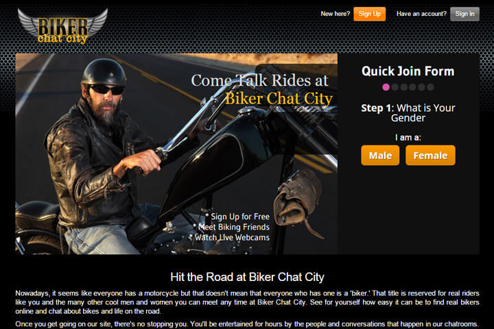 biker chat city homepage