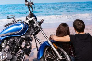 biker couple date