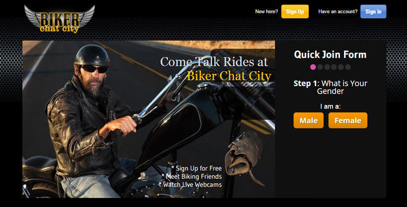 bikers chat city homepage